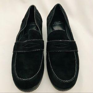 💜HP💜 Stuart Weitzman / Black Leather Loafers